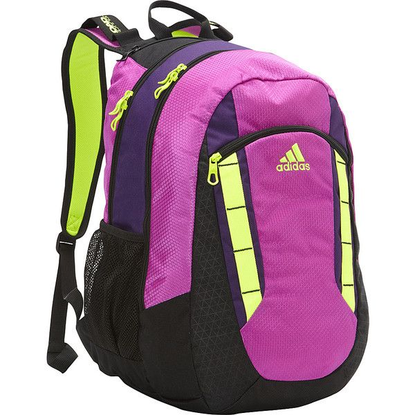 adidas Excel Backpack Laptop Backpack ($52) ❤ liked on Polyvore featuring bags, backpacks, laptop backpacks, pink, laptop bag, padded backpack, laptop rucksack and adidas backpack