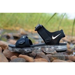 77a197a8bbca69 2018 NIKE AIR Vapormax Sandal Black Transparent Sole Top Deals ...
