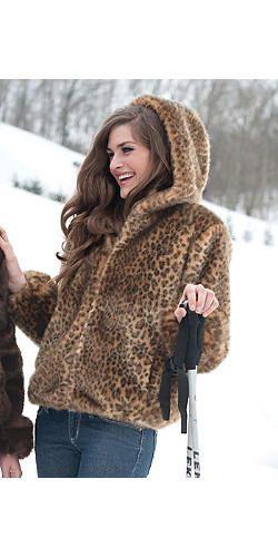 Java Leopard Faux Fur Hooded Parka | Fabulous-Furs