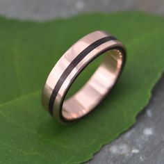 Equinox Nacascolo Rose Gold Wood Ring  by naturalezanica on Etsy, ecofriendly beautiful handmade rose gold and wood wedding band.