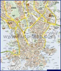Карта города Хельсинки