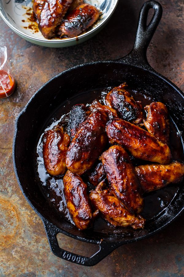 The perfect hot wings for your cast iron skillet.