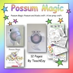 Possum Magic Craft to use when reading the beautiful Possum Maic book by Mem Fox. The kids loved it! www.teachezy.com