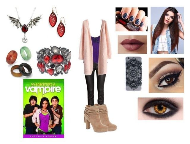 """""""My Babysitter's a Vampire"""" by themortalinstrumentslover ❤ liked on Polyvore featuring LORAC, H&M, Ermanno Scervino, Jessica Simpson, Chicwish, Sonoma life + style, Palm Beach Jewelry and Alexis Bittar"""