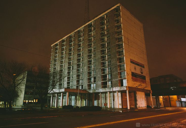 An abandoned Hilton Hotel in Gary, Indiana.