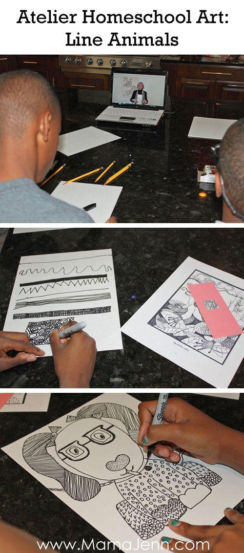 Atelier Homeschool Art Line Animals Lesson
