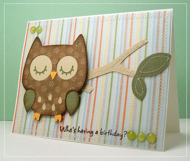 шел скрапбукинг совы открытки с днем рождения второе