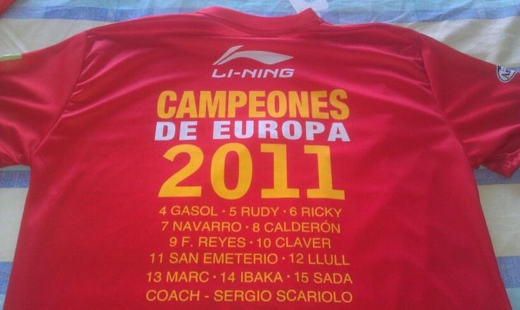 Campeones de Europa 2011 @Selección Española Baloncesto @spainbaloncesto