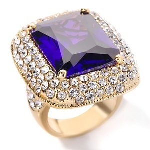 Justine Simmons Jewelry Tanzanite-Color Crystal Ring at HSN.com.