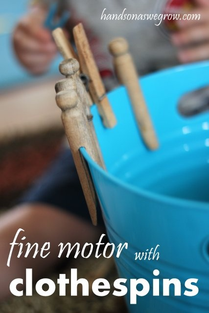 Toddler Fine Motor Exploration with Clothespins