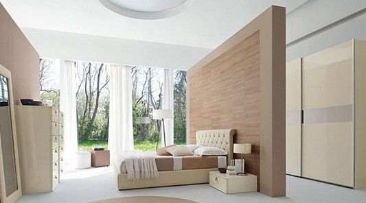 Bedroom Partition Ideas Contemporary Master Bedroom Decorating With Luxurious Leather Bed And