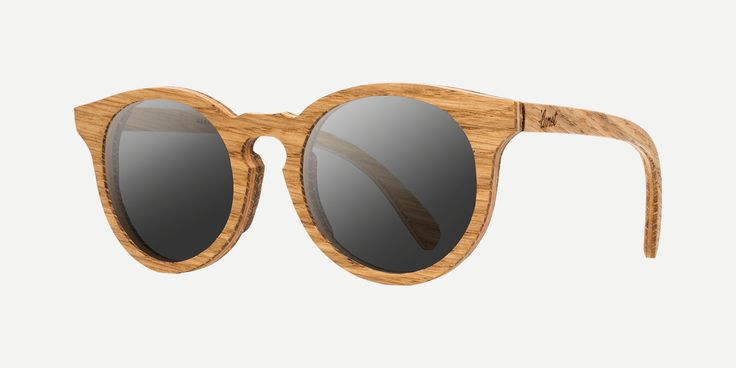 Lunet glasses are available in three varieties of wood: Oak, Cherry and Walnut. Each model has a Birch wood core for increased durability and flexibility.