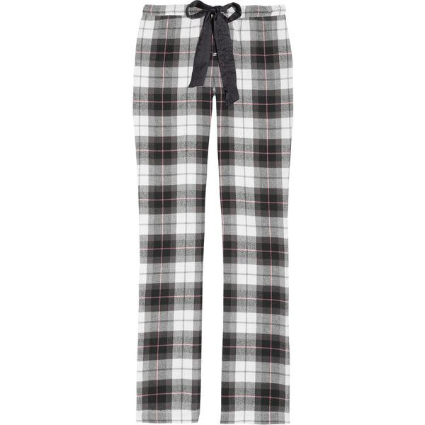 Juicy Couture Plaid cotton flannel pajama pants ($27) ❤ liked on Polyvore