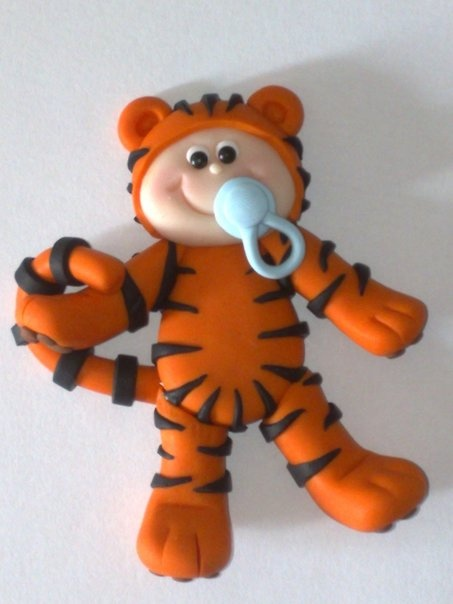 Tiger Baby flat backed card topper...for all your hand made cards and craft projects!  £2.65