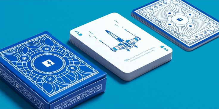 Facebook B2B playing cards designed by Human After All - A bespoke deck of playing cards, designed to deal out Facebook's annual marketing insights.