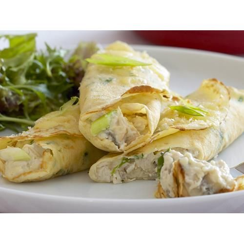 Chicken crepes recipe. #chicken #ModernEuropean #Lunch #crepes