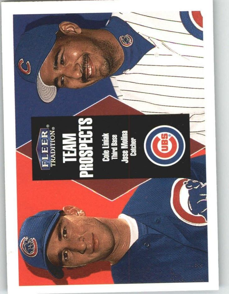 2000 Fleer Tradition 242 Cole Liniak / Jose Molina - Chicago Cubs (Prospects) (Baseball Cards) >>> This is an Amazon Affiliate link. Check this awesome product by going to the link at the image.