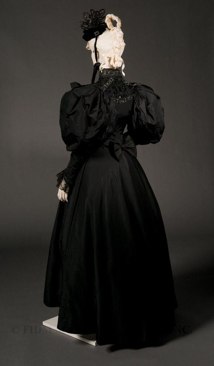 Two-piece formal dress (Back) 1894-96