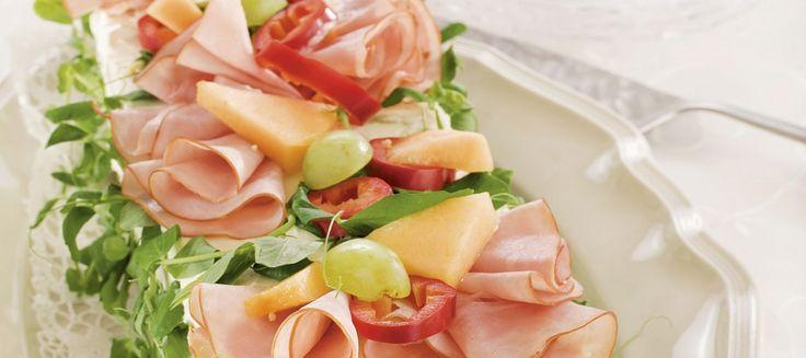 Meloni-kinkkuvoileipäkakku | Suolaiset leivonnaiset | Reseptit – K-Ruoka