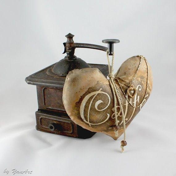 coffee heart ornament by YanArt