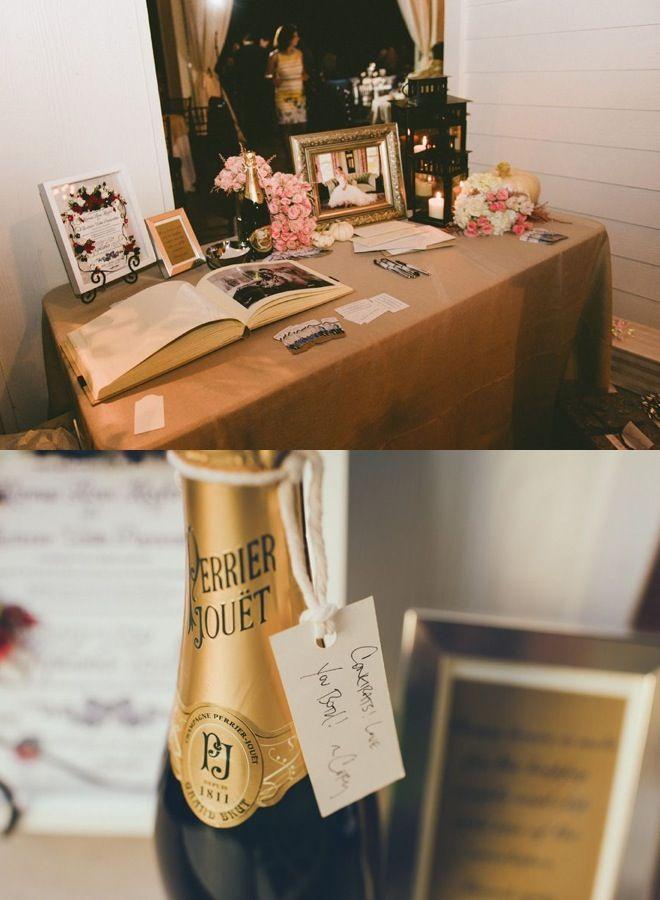 Rustic Chic Texas Wedding Guest Bookreception