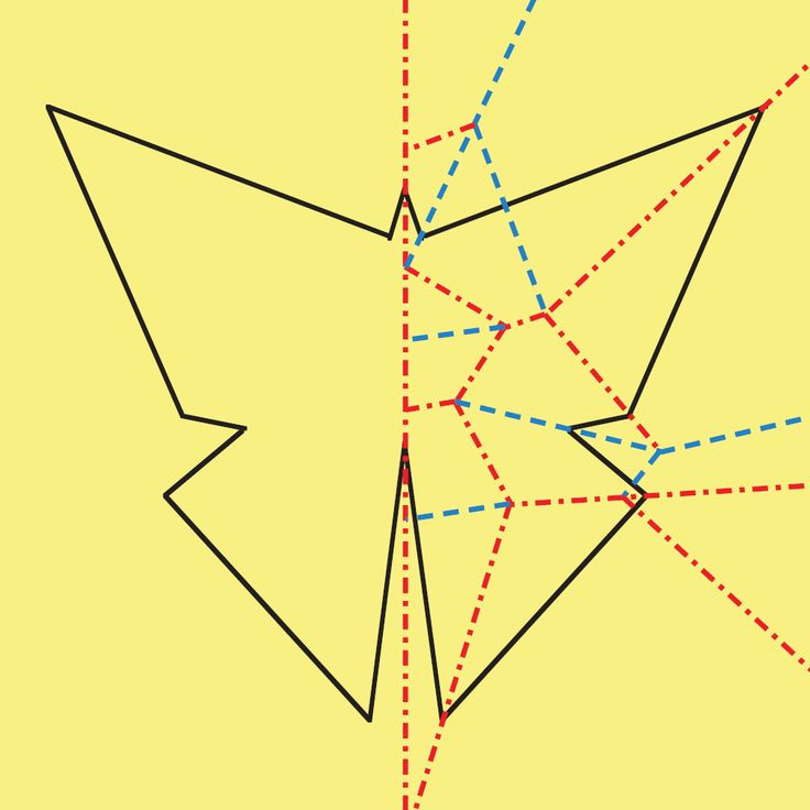 Crease pattern to make a butterfly