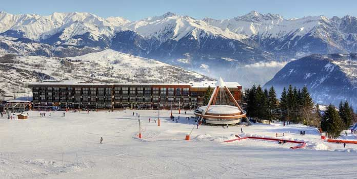 Skigebied Le Corbier: ski in ski out in groot skigebied Les Sybelles