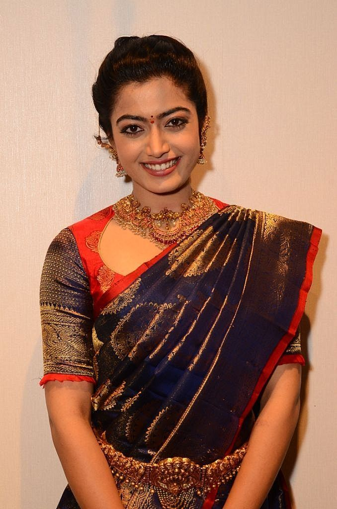 Actress Rashmika Mandanna In Saree Hd Photos South Indian Actress Indian Actresses Beautiful Indian Actress