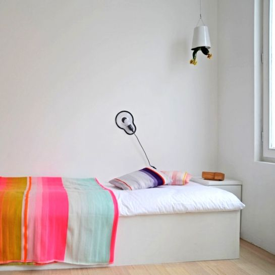 """Bedroom - Bedspread - Droog Design studio and apartment for 2 persons equipped with products from their shop, designed as """"a catalog to live in"""" - Via SoLoveLy"""