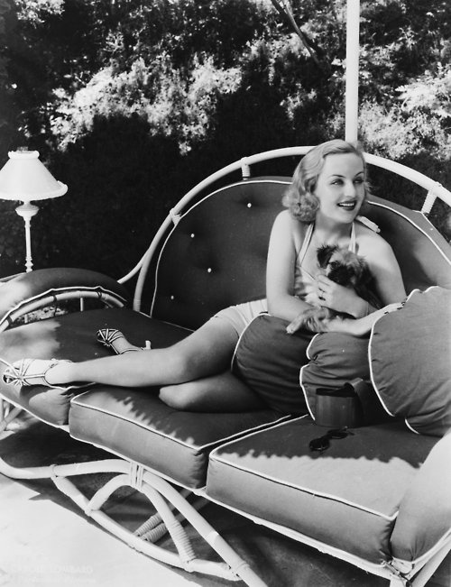 """Carole Lombard & another baby Jax lookalike  Date unknown            en.wikipedia.org    Carole Lombard was an American actress. She is particularly noted for her roles in the screwball comedies of the 1930s.Wikipedia    Born:October 6, 1908,Fort Wayne  Died:January 16, 1942,Las Vegas-Paradise, NV Metropolitan Statistical Area  Height:5' 3"""" (1.61m)  Spouse:Clark Gable(m. 1939–1942),William Powell(m. 1931–1933)  Awards:Presidential Medal of Freedom      literarydogs:    Carole…"""
