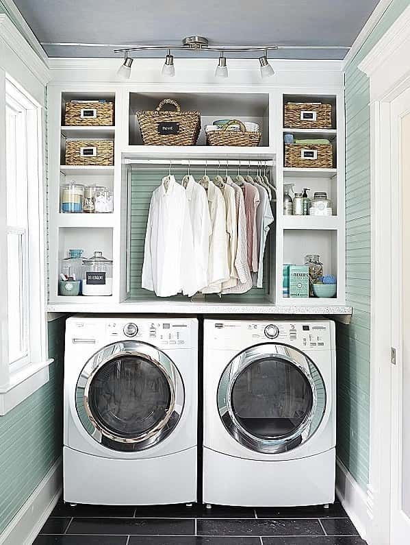 27 Best Laundry Room Shelf Ideas With Hanging Rod For Small Space Modern Laundry Rooms Laundry Room Diy Laundry Room Closet