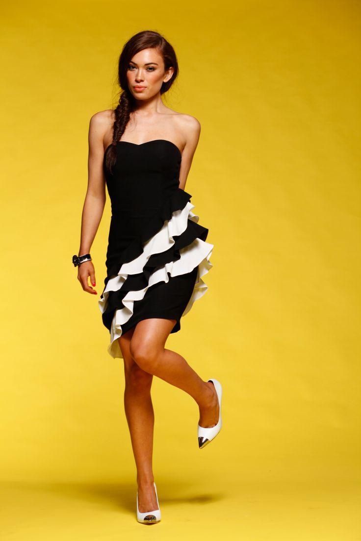 Honey & Beau - I've Got The Frill Dress in Black HD55008