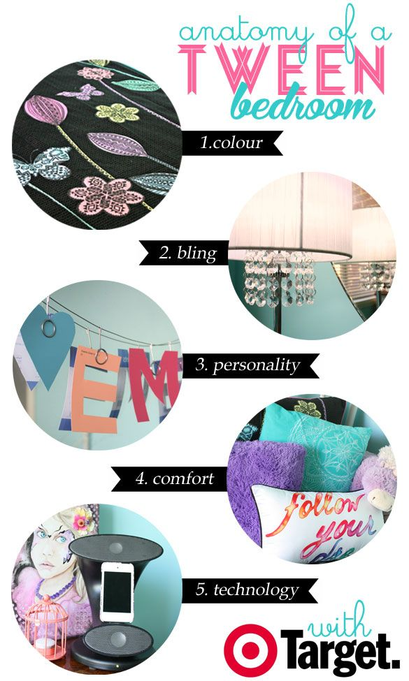 5 essentials for your tween's bedroom from the Life as we know it blog. #Target