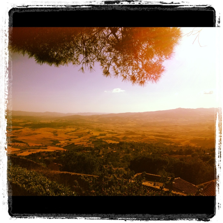 View from city wall of Volterra, Toscane 2012