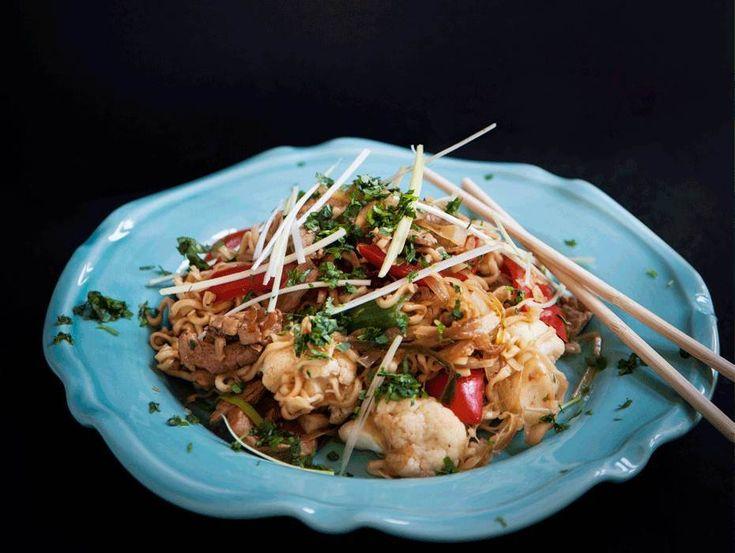 Thailändska toner ger dennafläskfiléwok underbara smaker. Ingefära och koriander passar utmärkt till fläskfilé. Här hittar du receptet!