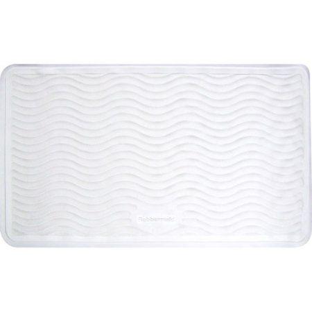 rubbermaid medium rubber bath mat white - Rubbermaid Tubs