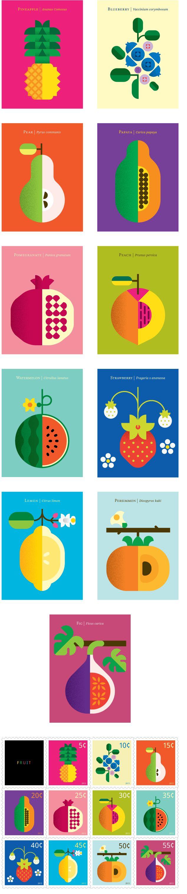 Graphic Inspiration Fruit Designs from Illustrator Christopher Dina , Illustration, Illustrator Ideas