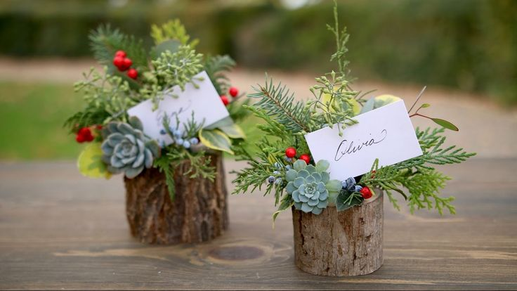 Holiday Place Card Holder / Party Favor (Full Version) // Garden Answer