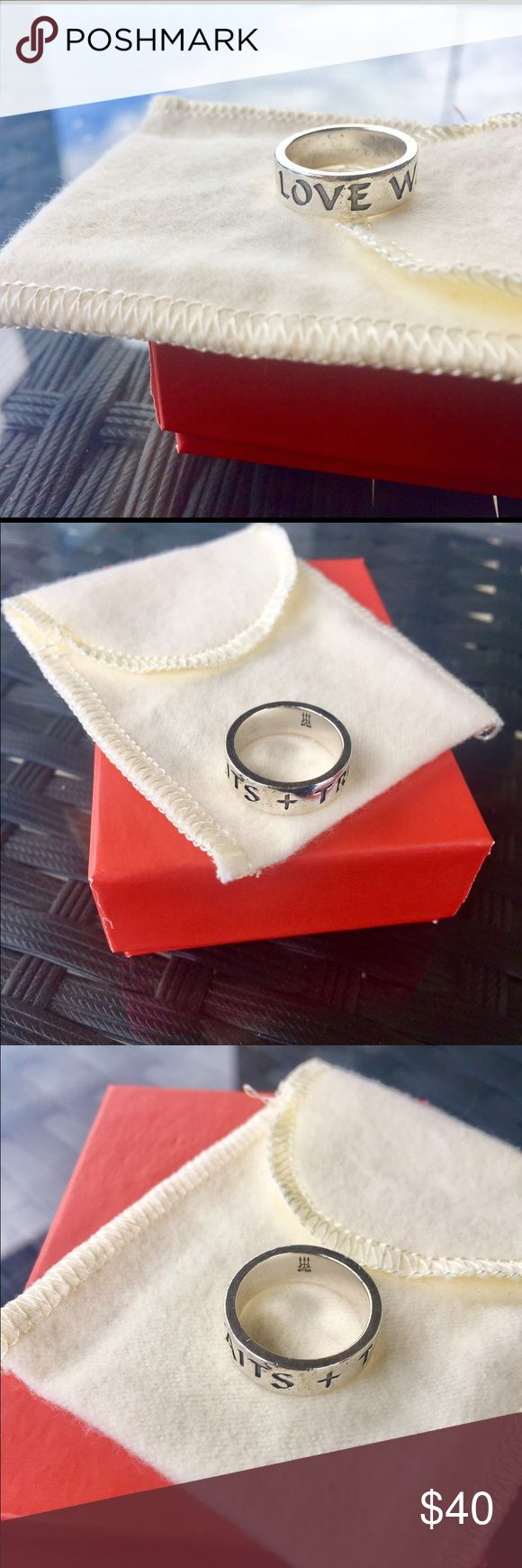 James Avery True Love Waits Ring James Avery True Love Waits Ring   Size 5  No flaws at all. Ring is in excellent condition.   Ships same or next day :) James Avery Jewelry Rings
