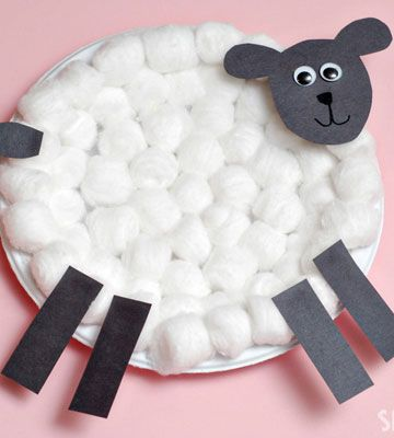 Click Pic for 50 Easter Crafts for Kids - Cotton Ball Lamb - Easter Craft Ideas for Preschoolers