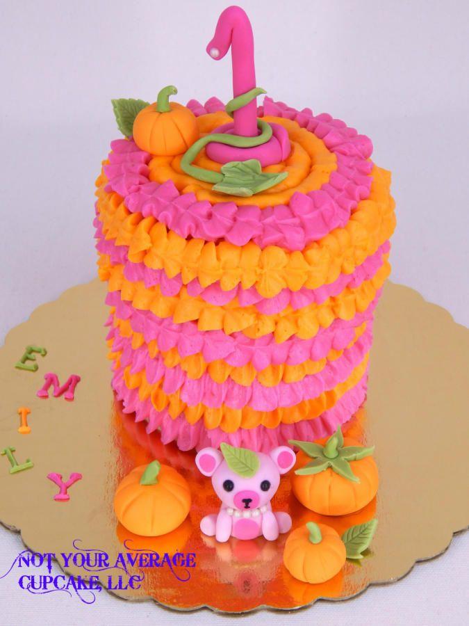 Emily's Lil' Pumpkin Smash Cake - Cake by Sharon A.