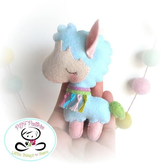 Pastel the Llama pattern-PDF pattern-Llama plushie-DIY Project-Nursery decor-Instant Download-Baby's mobile toy-Cute alpaca