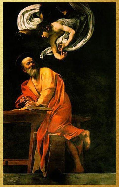 'The Inspiration of St. Mathew' — Caravaggio | circa 1602