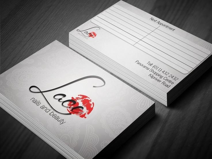Lace Nails Business Card Design