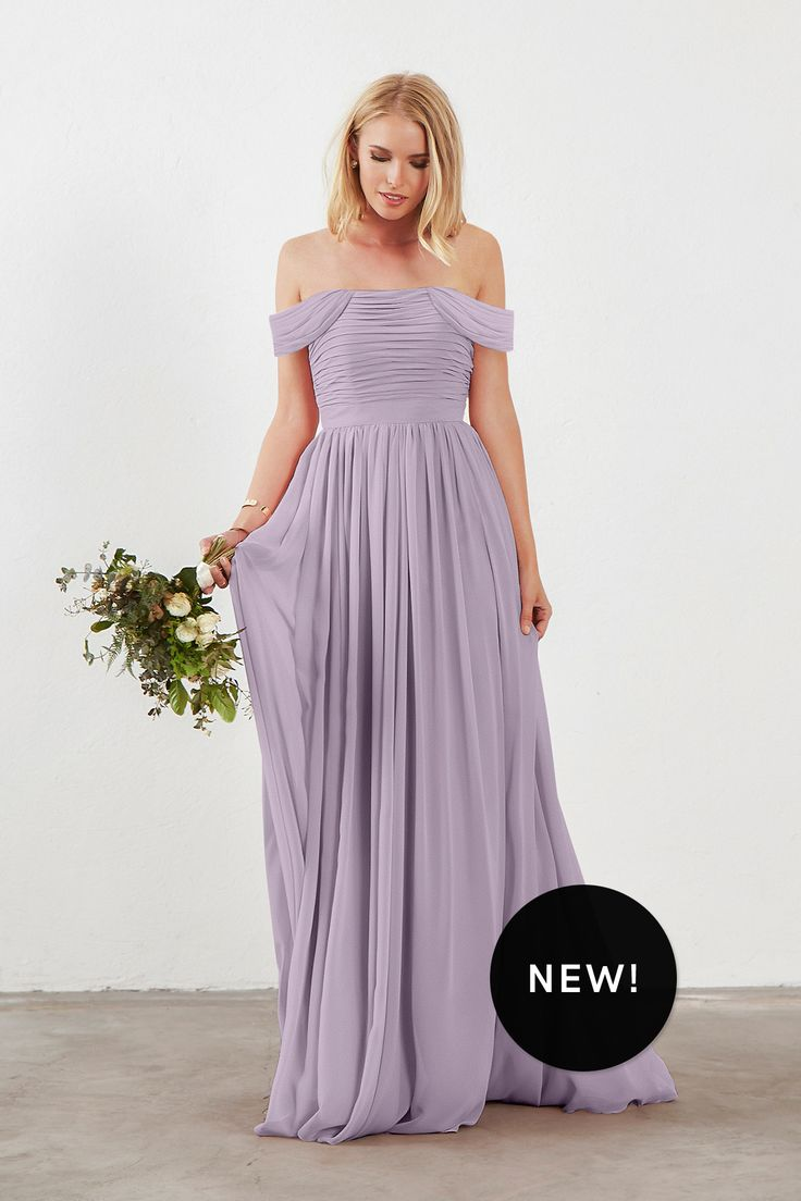 Shop Dove & Dahlia Bridesmaid Dress - Riley in Poly Chiffon at Weddington Way. Find the perfect made-to-order bridesmaid dresses for your bridal party in your favorite color, style and fabric at Weddington Way.