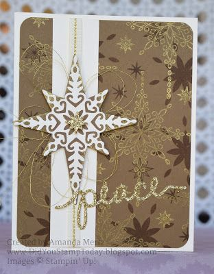 Did You Stamp Today?: Elegant Peace Star - Stampin' Up! Star of Light