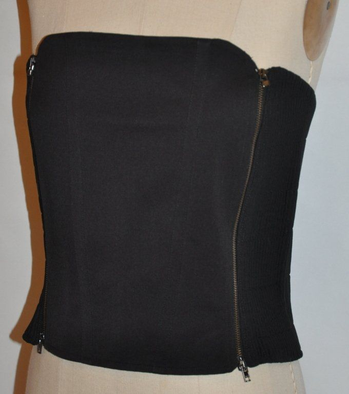 Gianfranco Ferre black double-zipper bustier 2