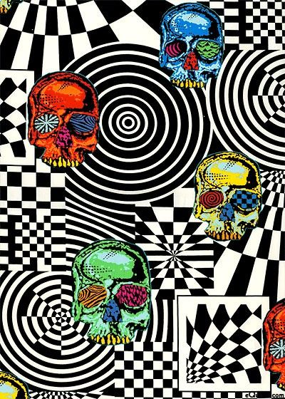 Alexander Henry Fabric Head Trip Skull Fabric 22 Piece