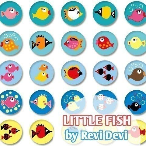Little Fish 16118.. Printable Circle 1.313 for by BlessedShop