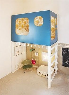 That is so cool! Kinda reminds me of the little bunk bed fort things at great wolf Lodge